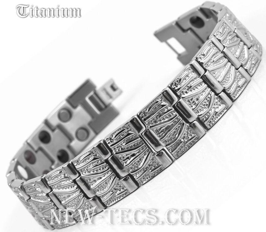 Титановый магнитный браслет TY116DWNT-Mj-titanium