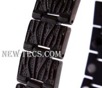 Стальной магнитный браслет с турмалином