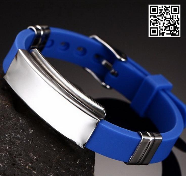 Каучуковый браслет KB106BL-AL
