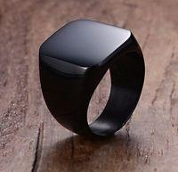 Перстень мужской черный