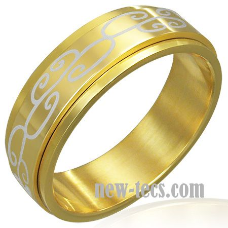 Кольцо вращающееся с позолотой