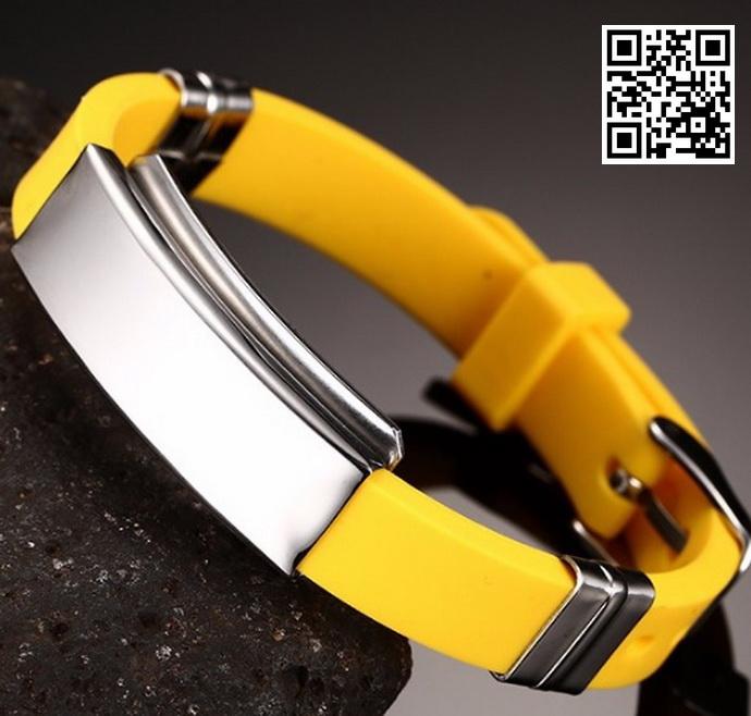 Каучуковый браслет KB106Y-AL